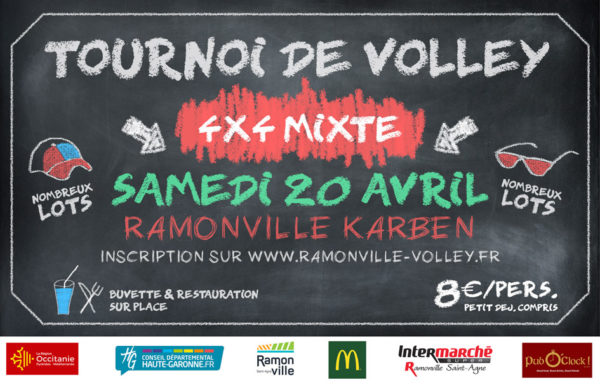 Tournoi volley 4x4 mixte Ramonville 20 avril 2019